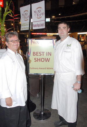 M Bistro's award-winning chefs show off a little.