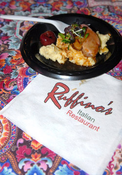 Ruffino's duck breast was enhanced by the delicious grits and pickled cherry.